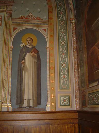 paire de tableaux (toiles marouflées) formant pendant : Saint François d'Assise, Saint Dominique de Guzman