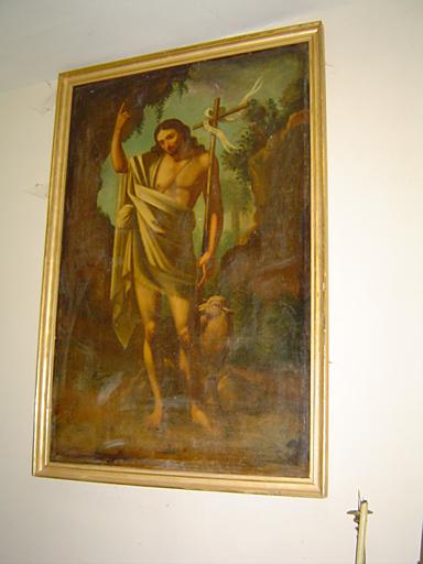 tableau et son cadre : Saint Jean-Baptiste et l'Agneau de Dieu