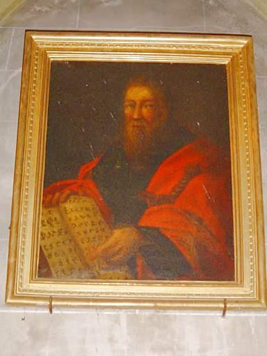 paire de tableaux et de leurs cadres formant pendant : Portrait de saint Paul, Portrait de saint Pierre