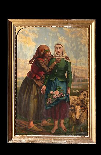 tableau et son cadre : Miracle de sainte Germaine de Pibrac