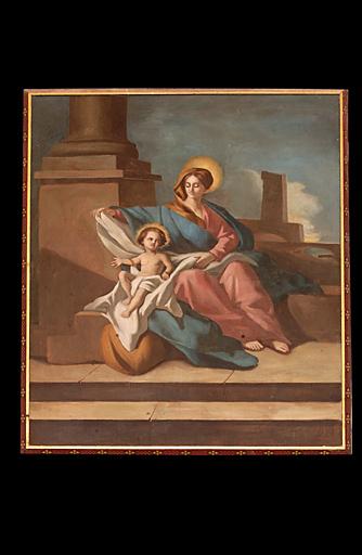 tableau et son cadre : Vierge à l'Enfant