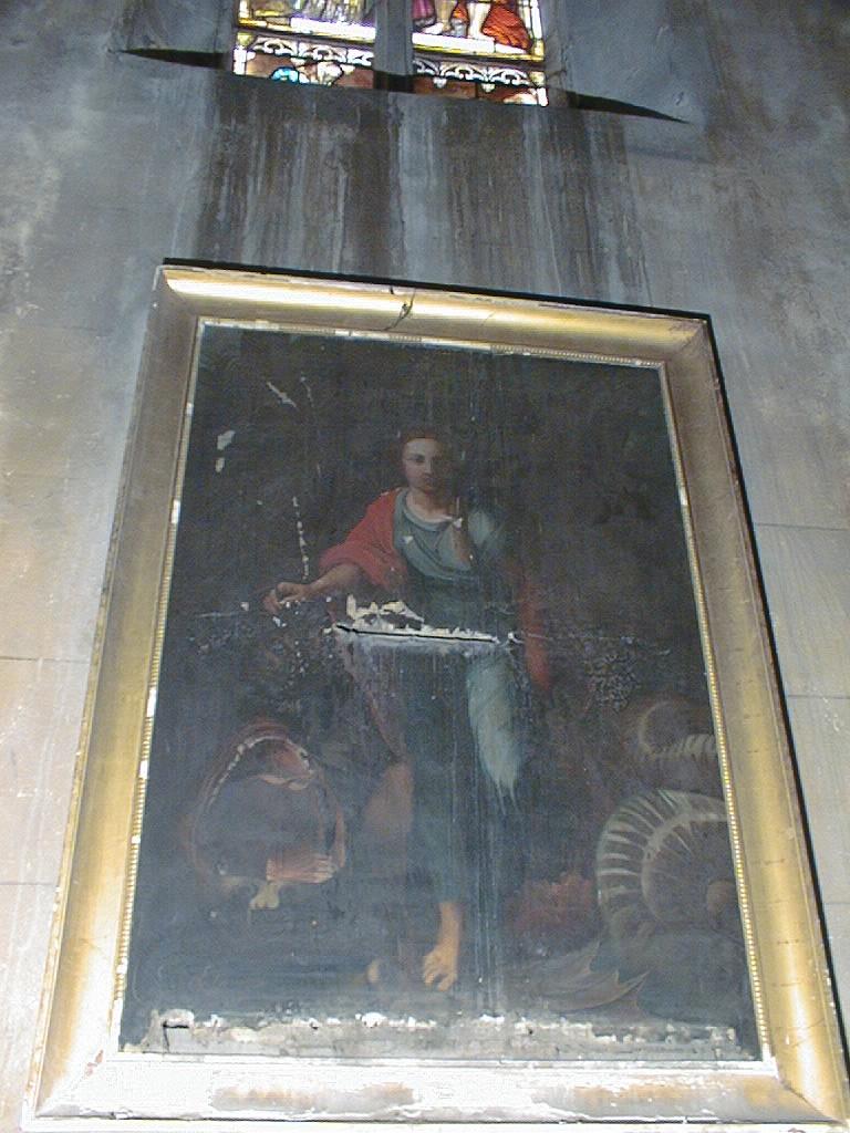 Tableau et son cadre : Sainte Marguerite