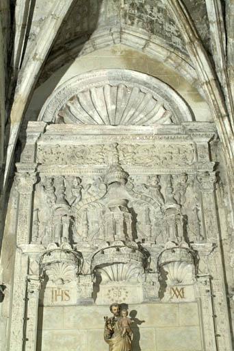 Retable architecturé de l'autel secondaire de saint Joseph
