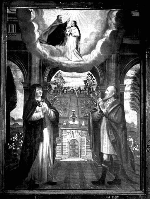 Tableau : Rencontre d'Anne et de Joachim à la Porte dorée