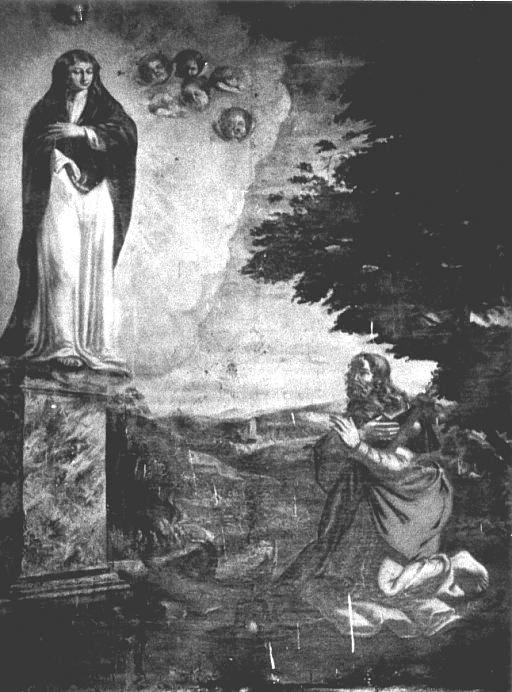 Tableau : Apparition à saint Jacques le Majeur de la Vierge sur le pilier
