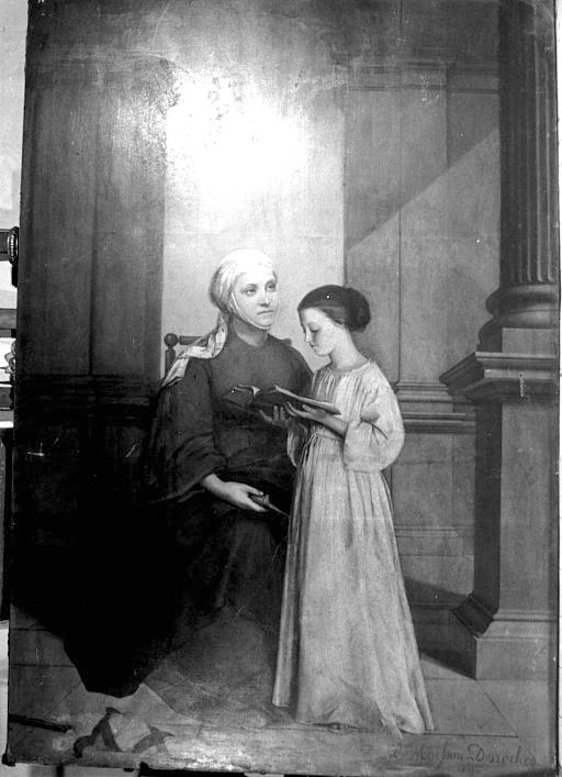 Tableau : Sainte Anne et la Vierge