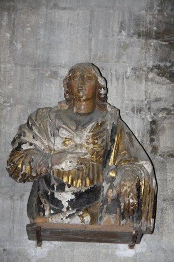 2 statues de saint et sainte non identifiés