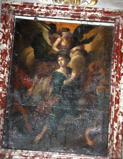 tableau : sainte Catherine couronnée