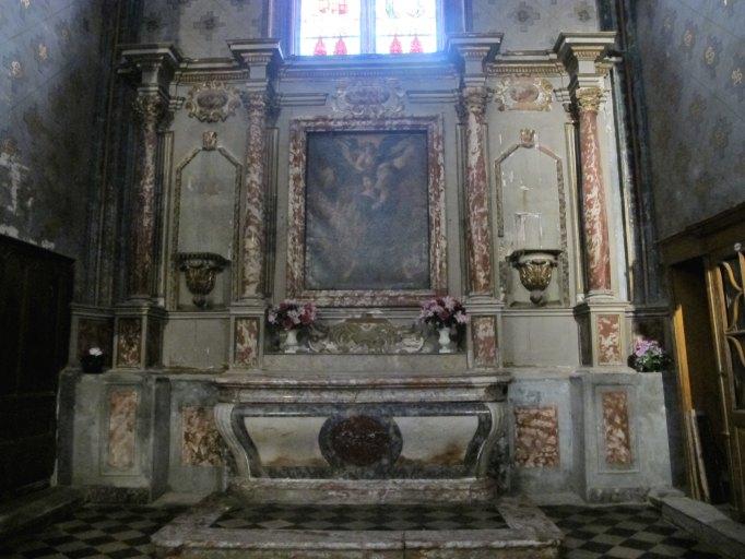 Retable et autel de la chapelle Sainte-Catherine n°1