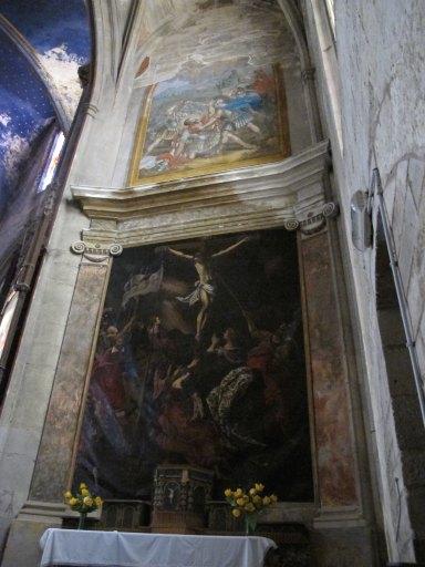 Retable et peinture monumentale du martyre de saint Maurice