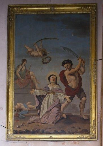 Tableau du martyre de sainte Julitte et saint Cyr