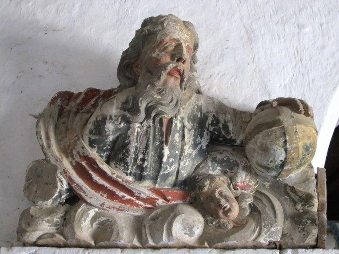 Fragment d'un fronton de retable : Dieu le Père