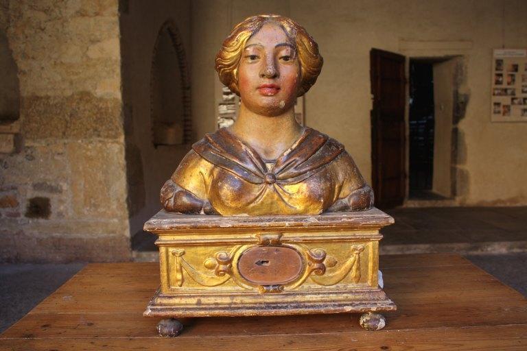 Bustes-reliquaires de saint Laurent et sainte Agnès