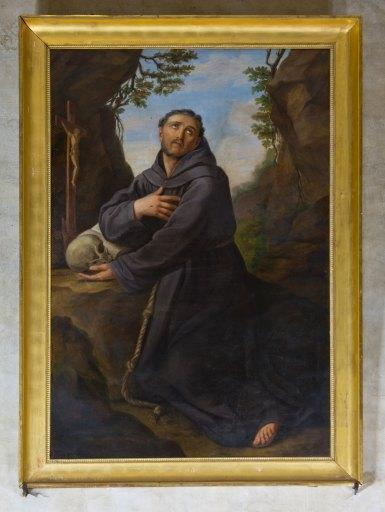 Tableau et son cadre : Saint François en extase