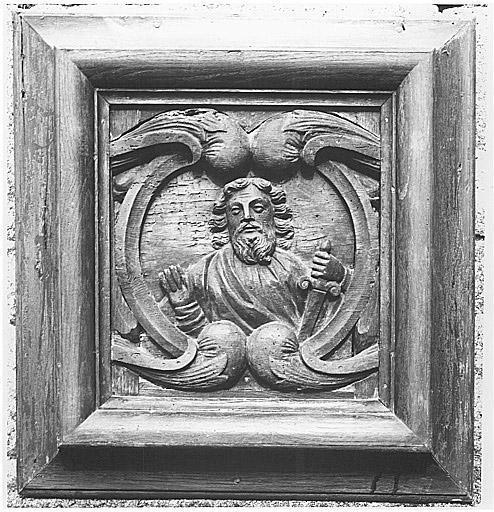 Bas-relief (élément de tabernacle ?) : saint Paul