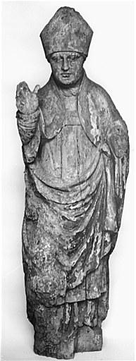 Statue (petite nature) : saint évêque (saint Dulcet ?)