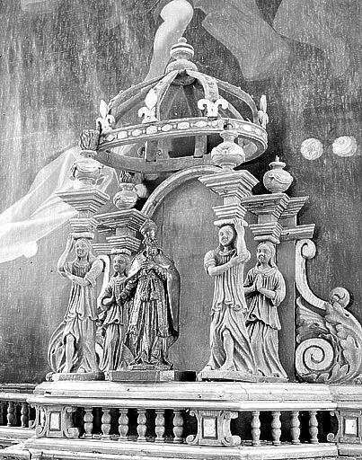 Autel, 2 gradins d'autel, 2 tabernacles, exposition (maître-autel)