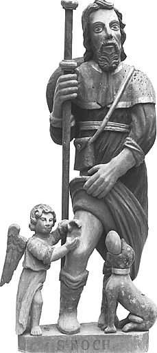 Statue (demi-nature) : saint Roch