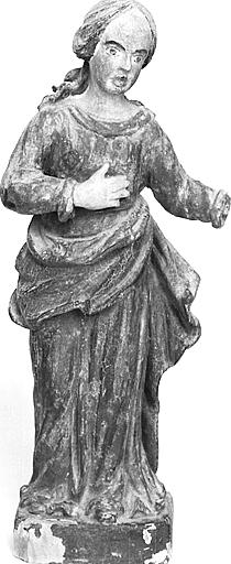 5 statuettes : sainte, Vierge à l'Enfant, saint Jérôme, saint Roch, sainte Catherine