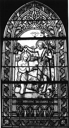 Verrière : le Baptême du Christ