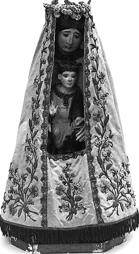 Statuette : Vierge à l'Enfant assise