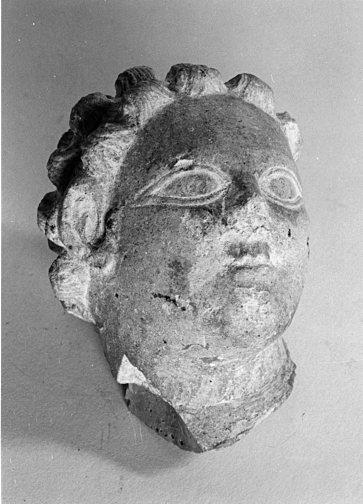 Tête de statue antique