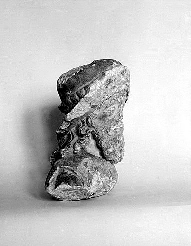 Tête de statue : Saint Jacques le Majeur ou Saint Roch