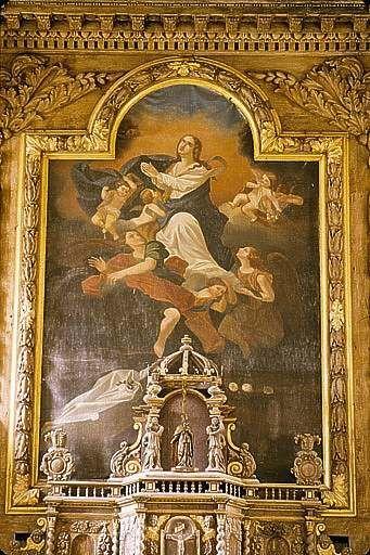 Tableau : l'Assomption de la Vierge (ensemble du maître-autel)