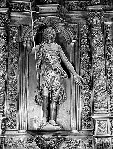 Statue (figure colossale) : saint Jean-Baptiste