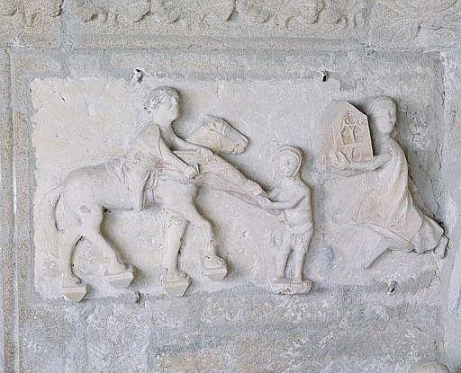 Tombeau : gisant d'un chevalier