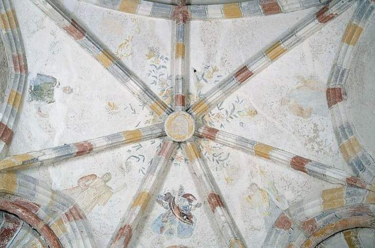 3 peintures monumentales : Dieu le Père, saint Roch, saint Maurice
