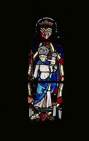 verrière : Vierge à l'Enfant, dite Notre-Dame d'Eygurande