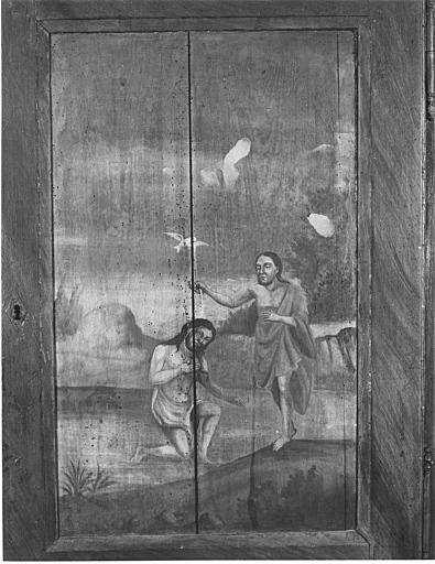 Placard-clôture des fonts baptismaux