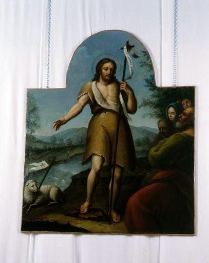 tableau : saint Jean-Baptiste prêchant dans le désert