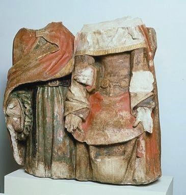Groupe sculpté : la Vierge et saint Jean