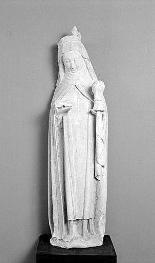 Statue (petite nature) : sainte Radegonde