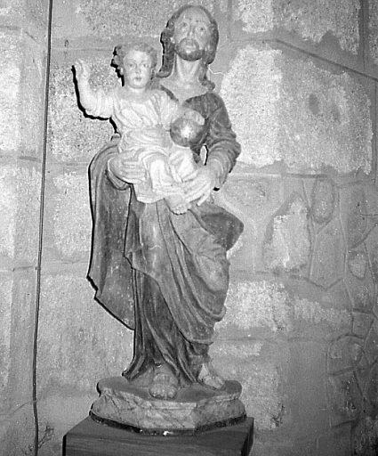 Statue : saint Joseph et l'Enfant Jésus