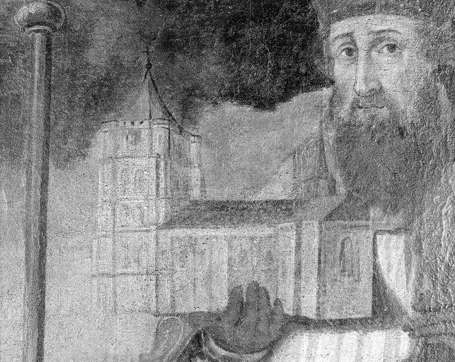 Tableau : saint Eloi présentant l'église de Solignac à saint Martial