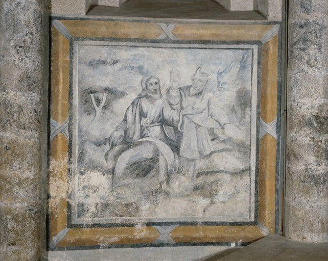 2 peintures monumentales : la Tentation du Christ, le Jardin des oliviers