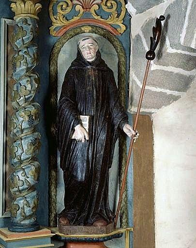 Statue (petite nature) : saint Pardoux
