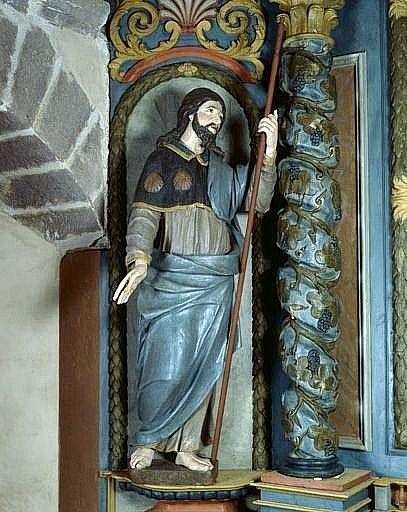 Statue (petite nature) : saint Jacques le Majeur