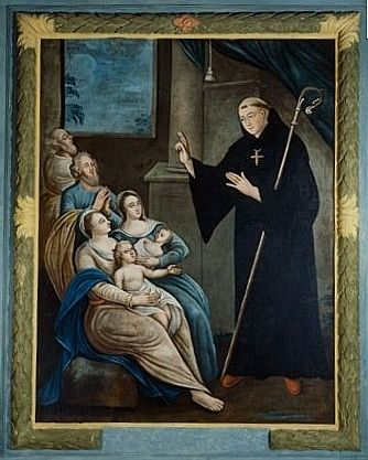 Tableau : saint Pardoux bénissant