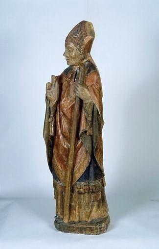Statue (petite nature) : saint Martial