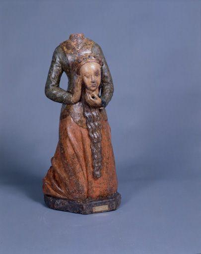 Statuette : sainte Valérie céphalophore