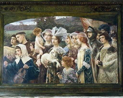 tableau : les fidèles au pardon