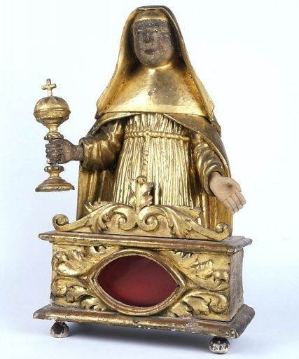 Buste-reliquaire : sainte Claire d'Assise