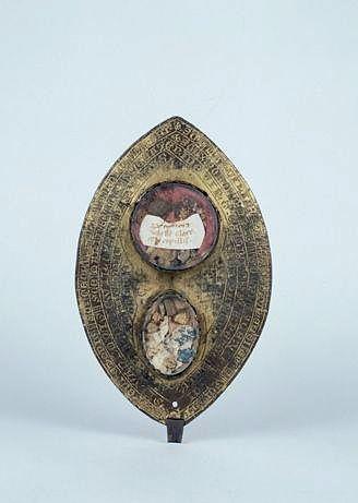 Reliquaire dit phylactère de sainte Claire et de sainte Valérie