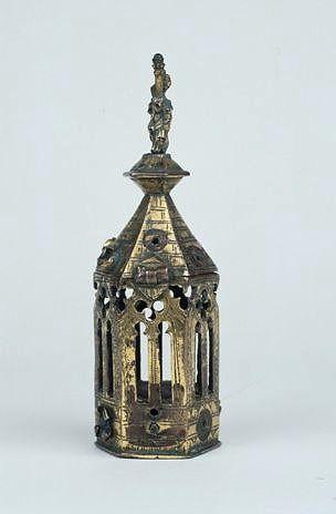 Reliquaire-monstrance (reliquaire pédiculé à monstrance en forme de tourelle) de saint Géraud d'Aurillac