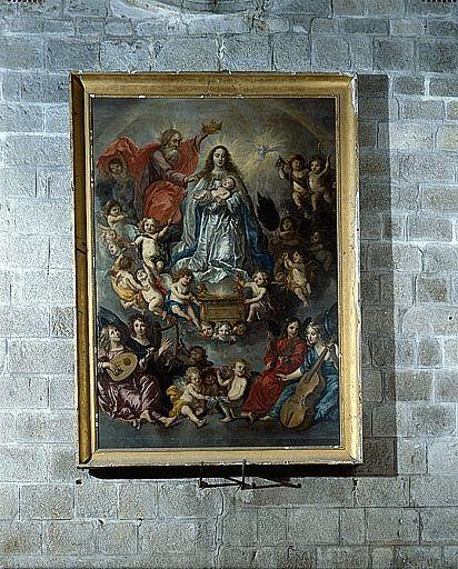 Tableau : la Vierge entourée d'un concert d'ange