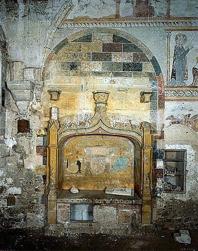 Peintures monumentales de l'enfeu du commandeur Jean Grimeau (ensemble des peintures monumentales)
